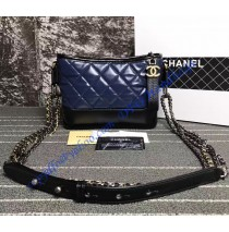 Chanel Gabrielle Small Hobo Bag Blue Black