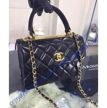 Chanel Trendy CC Flap Bag in Black Lambskin