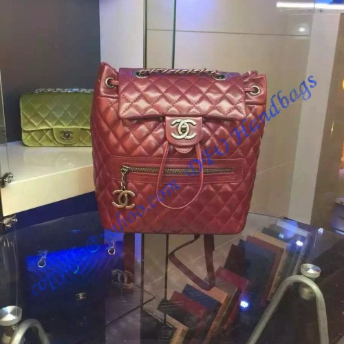 b1b72e9b601f Chanel Small Classic Mountain Quilted Backpack in Wine Red Calfskin.  Loading zoom