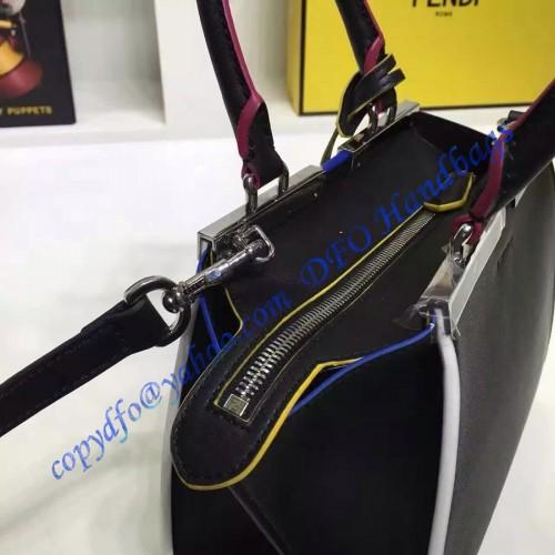 f1cb0e67e7 Fendi Mini 3Jours in Black Leather Handbag – LuxTime DFO Handbags