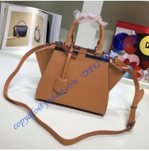 Fendi Mini 3Jours in Camel Leather Handbag