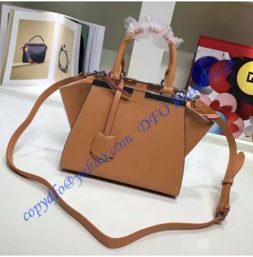 Fendi Mini 3Jours in Camel Leather Handbag