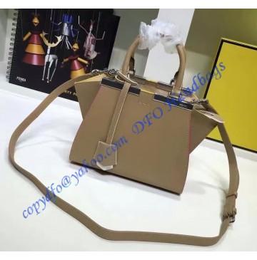 Fendi Mini 3Jours in Gray Leather Handbag