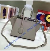 Fendi Mini 3Jours in Light Gray Leather Handbag