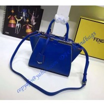Fendi Mini 3Jours in Royal Blue Leather Handbag