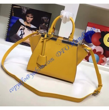Fendi Mini 3Jours in Yellow Leather Handbag