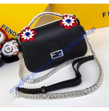 Fendi Double Micro Baguette Bicolor Black and Tan