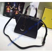 Fendi Mini 3Jours in Black Leather Handbag
