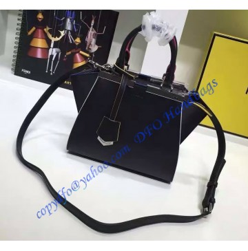 Fendi Mini 3Jours in Black Leather Handbag