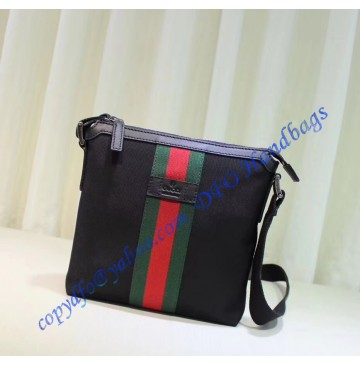 Gucci Web Small Messenger Bag Black
