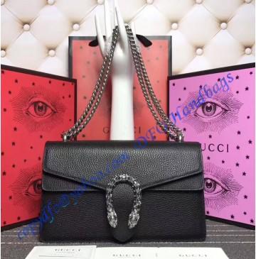 Gucci Dionysus Black Leather Medium Shoulder Bag