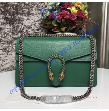 Gucci Dionysus Green Leather Medium Shoulder Bag