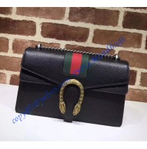 Gucci GG Web Dionysus Leather Medium Shoulder Bag