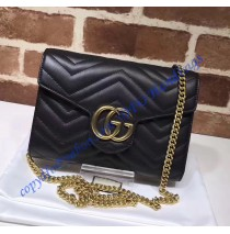 Gucci GG Marmont Black matelasse mini bag
