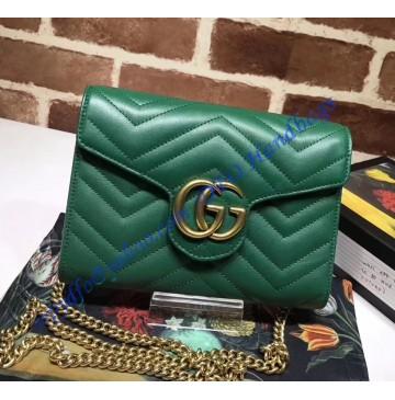 Gucci GG Marmont Green matelasse mini bag