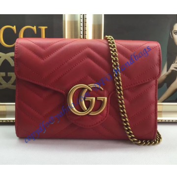 Gucci GG Marmont Red matelasse mini bag