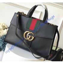 Gucci GG Marmont Sylvie Web tote Black