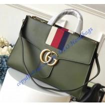 Gucci GG Marmont Sylvie Web tote Green
