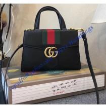 Gucci GG Marmont Sylvie Small Web Tote Black