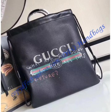 Gucci Coco Capitan logo Black backpack