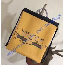 Gucci Coco Capitan logo Yellow backpack