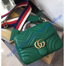 Gucci GG Marmont small Green shoulder bag