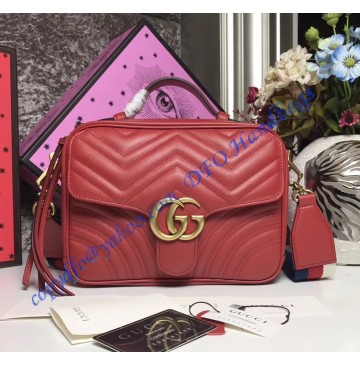 Gucci GG Marmont small Red shoulder bag