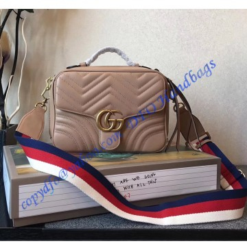 Gucci GG Marmont small Tan shoulder bag