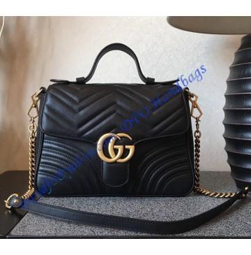 Gucci GG Marmont small Black top handle bag