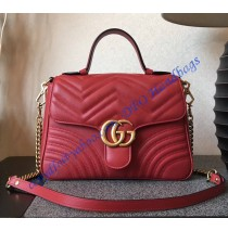 Gucci GG Marmont small Red top handle bag