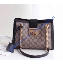 Gucci Padlock small GG shoulder bag Black