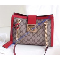 Gucci Padlock small GG shoulder bag Red