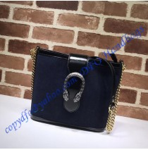 Gucci Dionysus medium bucket bag Dark Blue Suede