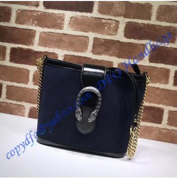 Gucci Dionysus medium bucket bag Dark Blue Suede