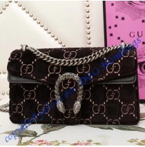 Gucci Dionysus Black GG velvet small shoulder bag
