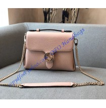 Gucci Interlocking G Buckle Convertible Chain Pink Leather Cross Body Bag