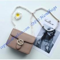 Gucci Interlocking Chain Tan Leather Cross Body Bag
