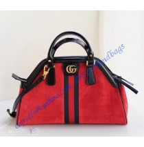 Gucci RE(BELLE) medium top handle bag Red Suede