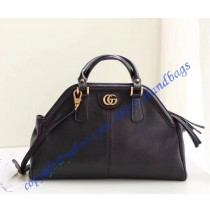 Gucci RE(BELLE) medium top handle bag Black Leather