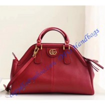Gucci RE(BELLE) medium top handle bag Red Leather