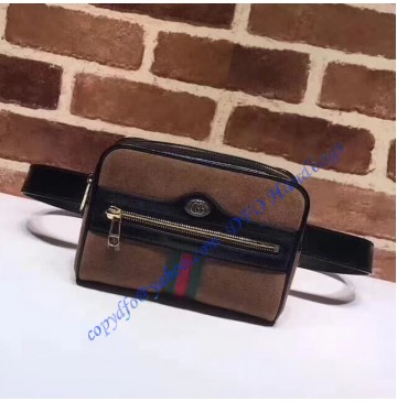 Gucci Ophidia small belt bag in Brown Suede