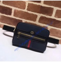 Gucci Ophidia small belt bag in Dark Blue Suede