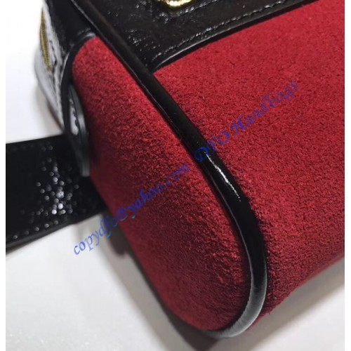 Gucci Ophidia Small Belt Bag In Red Suede