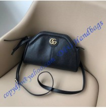Gucci RE(BELLE) Small Shoulder Bag in Black Leather