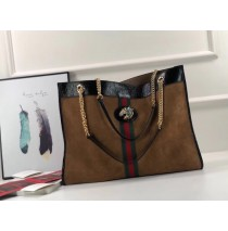 Rajah large tote in Brown Suede