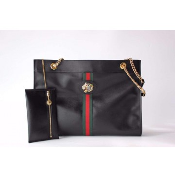 Gucci Rajah large tote in Black Leather