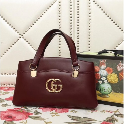 c91375b5a3f4 Gucci Arli large top handle bag Wine Red. Loading zoom