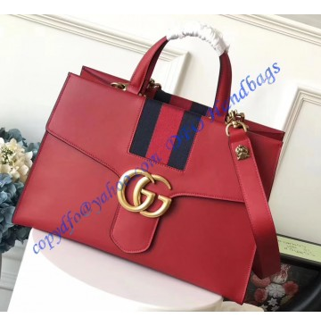 Gucci GG Marmont Sylvie Web tote Red