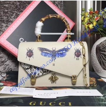 Gucci Ottilia small top handle tote bag Cream