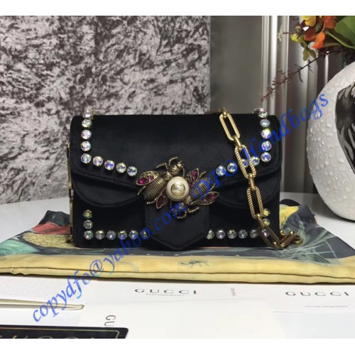 745a9f35f2522 Gucci Broadway black velvet mini bag. Loading zoom
